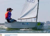 David Santacreu, Yago Barca y Antonio Villalón en el top ten provisional del Europeo de Optimist